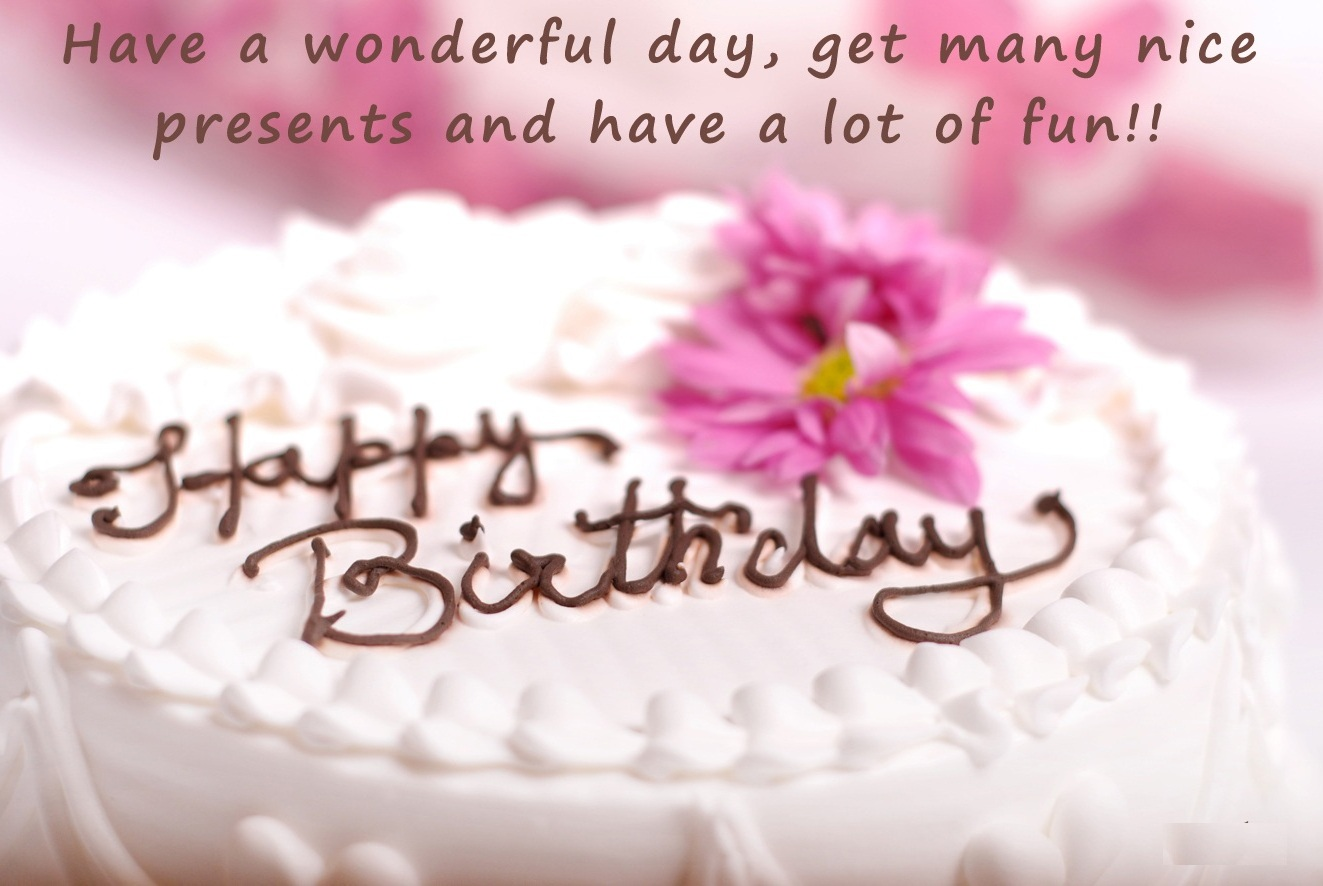 Birthday cake wallpaper with quotes
