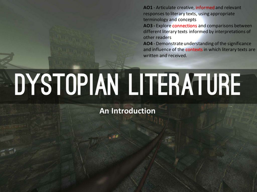 dystopia in literature Dystopian literature has been characterized as fiction that presents a negative view of the future of society and humankind dystopia: a futuristic.