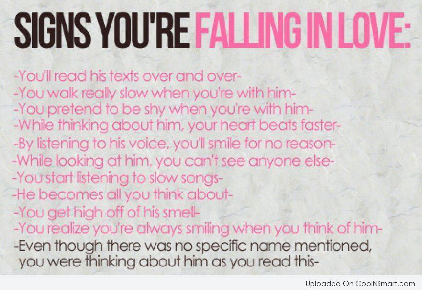 love Signs in your quotes falling