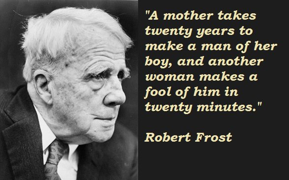 the use of imagery in the most of it by robert frost