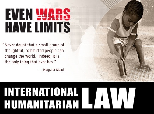 international humanitarian law essay International humanitarian law (ihl) is seen as the law in which provides basic human rights in time of armed conflict the use of ihl in a modern scenario is needed now more then ever with the increase of entities that wish to disrupt the peace by ignoring basic human rights.