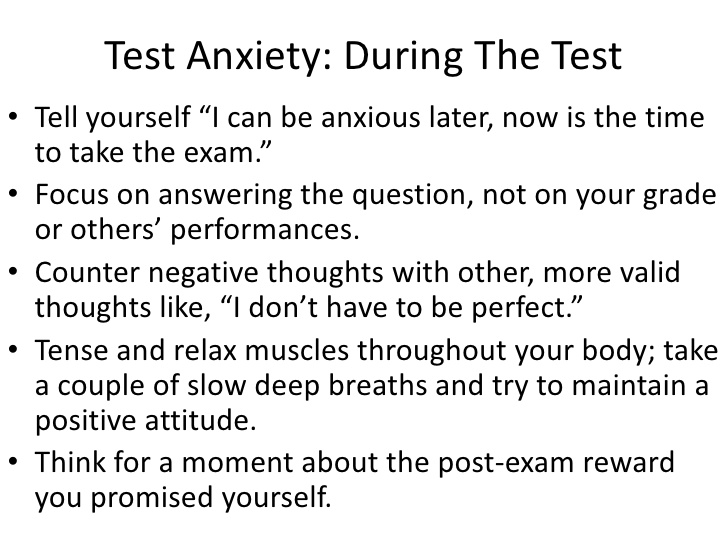 research paper done on test anxiety