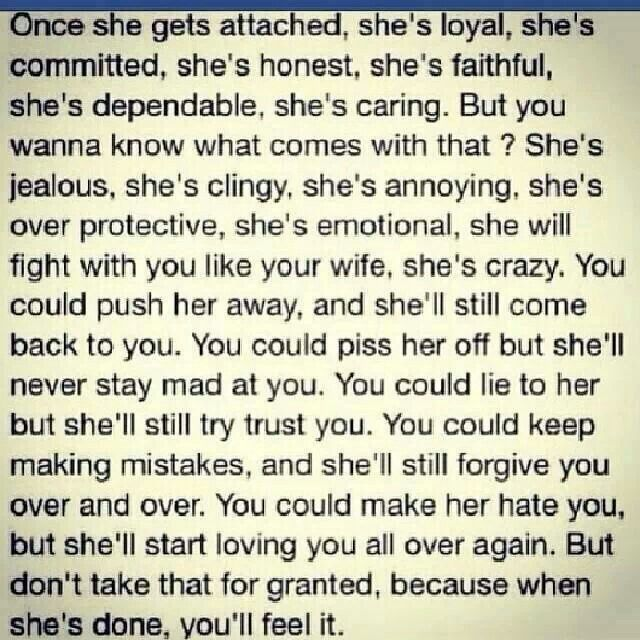 Never take a good woman for granted quotes