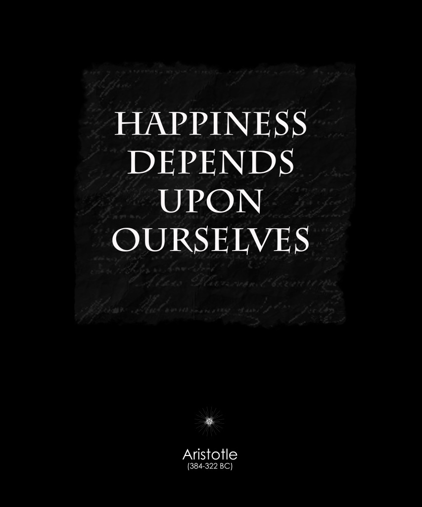 happiness depends upon ourselves An inspiring piece to hang in a child's bedroom or a family room, the happiness ourselves canvas wall art by elementem photography features an uplifting phrase in mixed fonts the quote from aristotle reads happiness depends on ourselves free shipping on orders over $29.