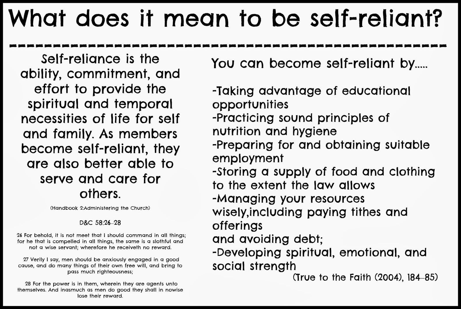 self reliance essay examples Get an answer for 'choose a metaphor from self-reliance and discuss how this metaphor can be used to understand the essay as a whole self-reliance by ralph waldo emerson' and find homework help for other self-reliance questions at enotes.