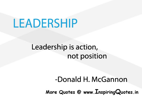 essay on leadership is action not position