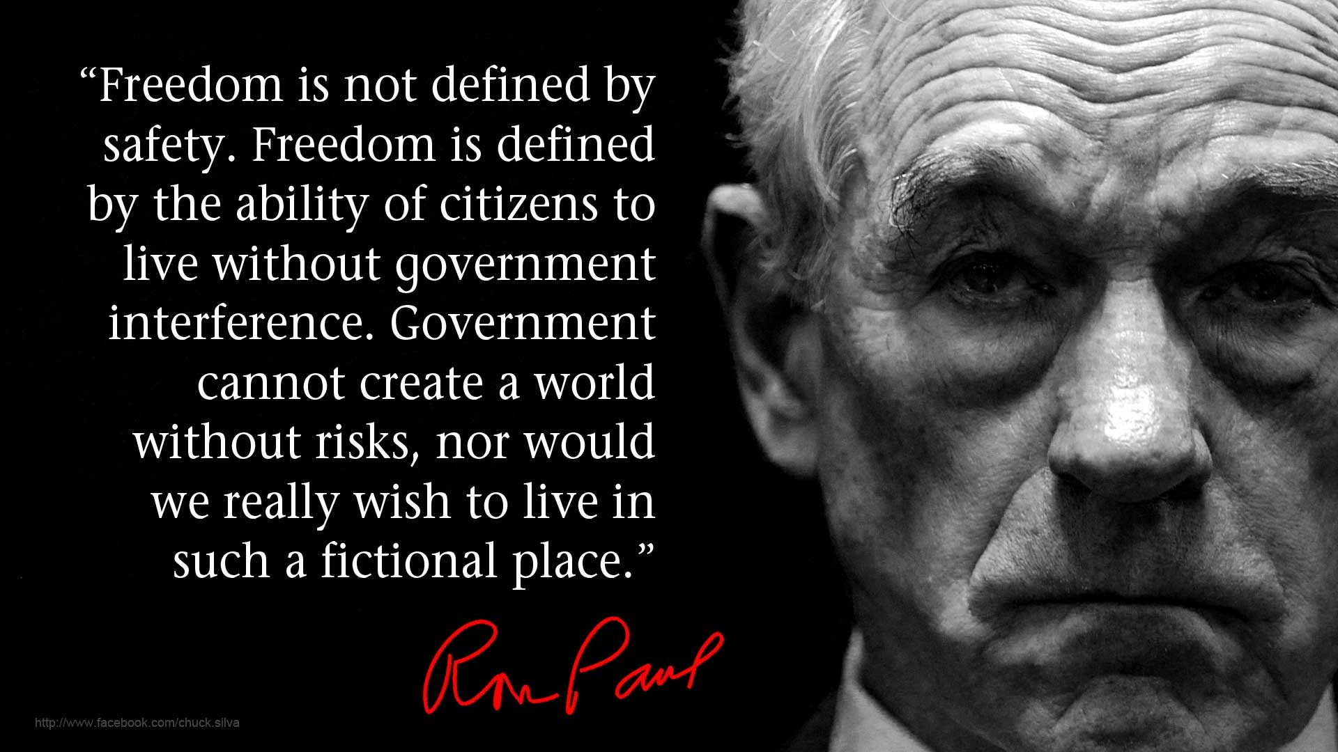 safety vs freedom So if somehow freedom and safety do clash, it is the free choice of each person to resolve that clash for himself  we are not giving up liberty for security.