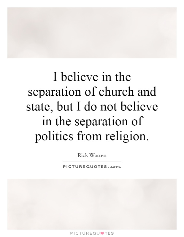 the separation of the church and the state essay It is evident that the issue of church and state separation is a widely debated topic in today's society the two constituent parts of modern society play a pivotal role in its development.