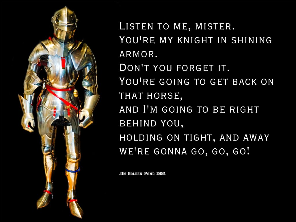 knight in shining armor essay Anime and manga edit berserk the skull knight doesn't do a lot of lady-wooing, preferring to act as a mysterious protector to guts and casca, but he's perhaps the closest thing so far to a knight in shining armor in the berserk universe, particularly when he saves guts and casca from being finished off by griffith and the godhand at the end.