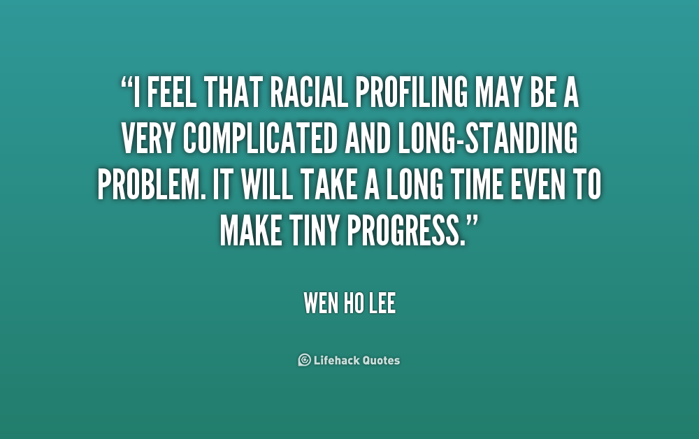 an essay on racial profiling and discrimination