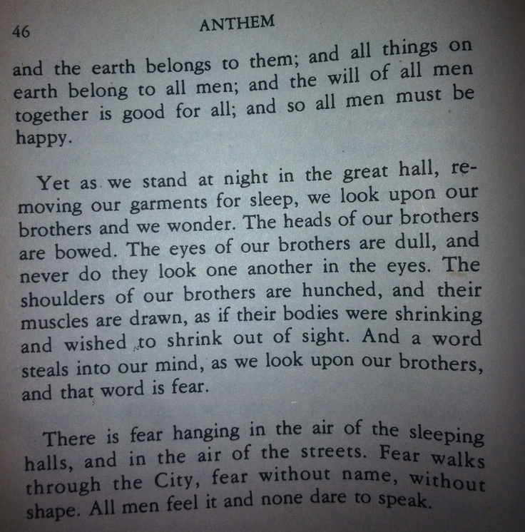 Anthem Quotes Delectable Quotes About Book Anthem 48 Quotes
