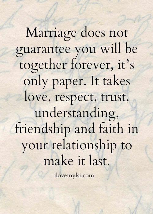 trust in marriage essay