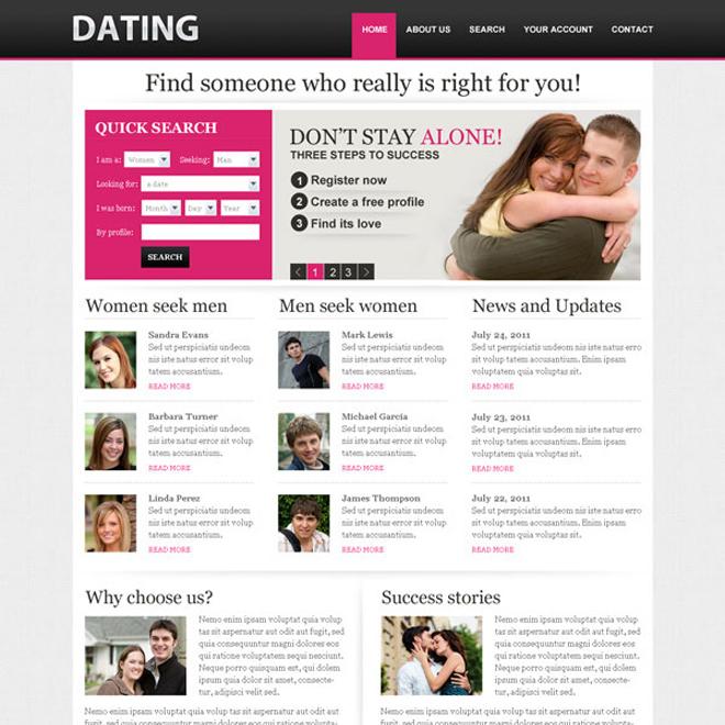 best designed dating websites