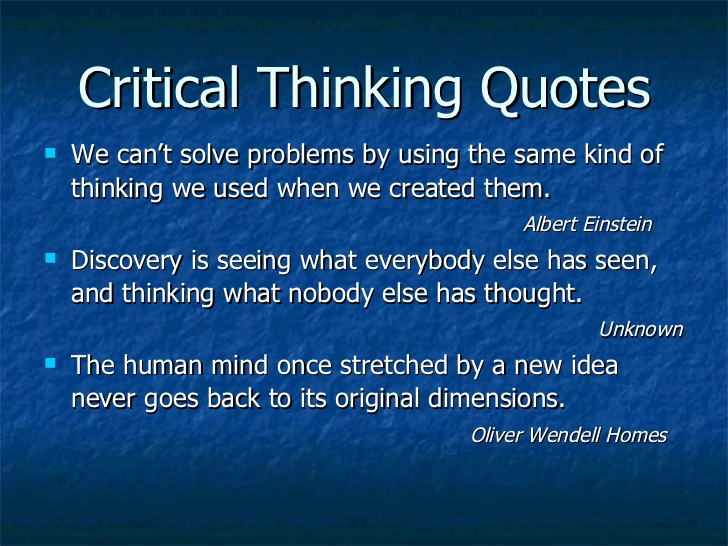 critical thinking and problem solving skills essay