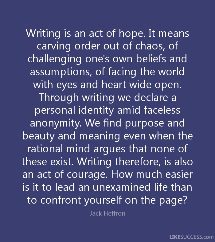 meaning of courage essay