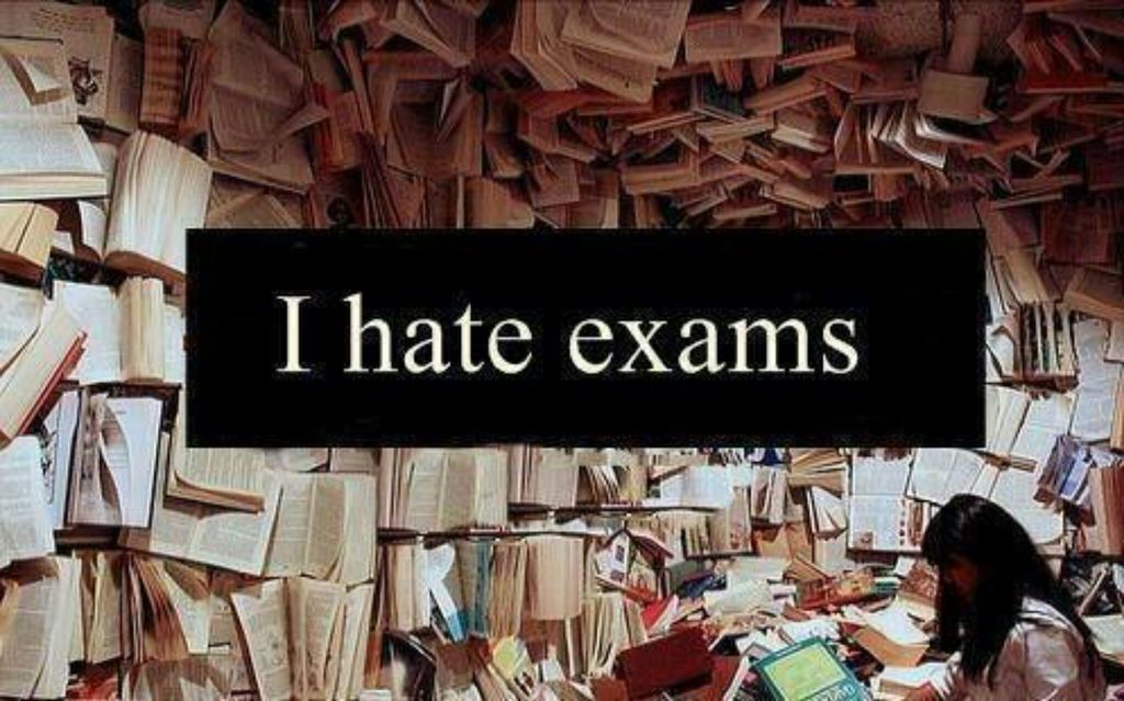 I hate studying for exams