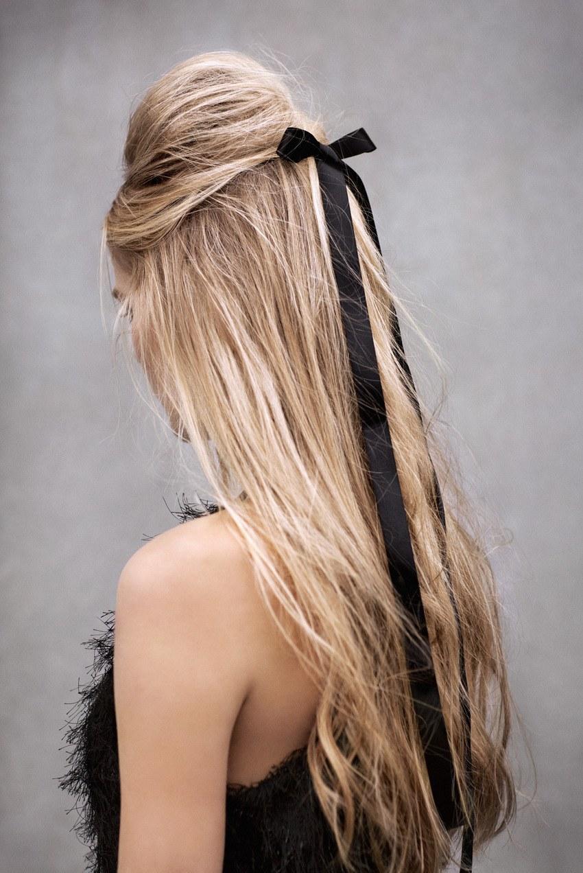 Фото причесок сзади блондинка