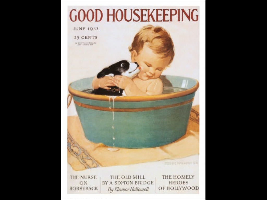 """good housekeeping the second shift The second shift """"i am a working mother i am nuts,"""" proclaims an unkempt cartoon woman on a mug surrounded by mounds of papers, a crying baby, and a broom, she is exhausted but resolute."""