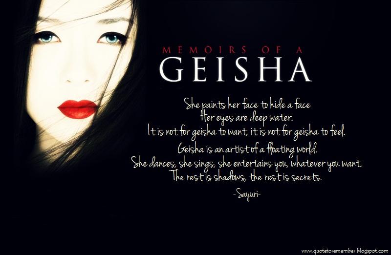 memoirs of a geisha essay quotes