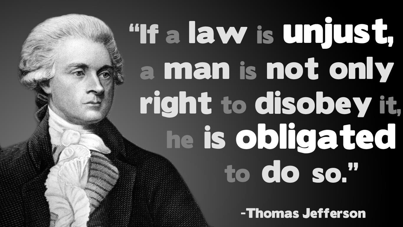 civil disobedience in an unjust america