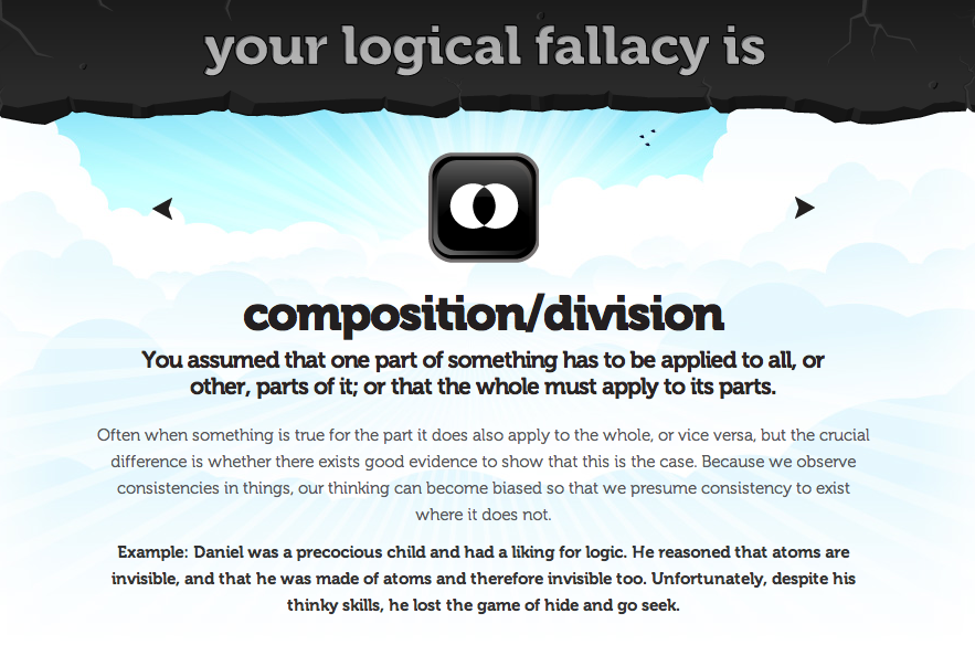 logical fallacies and application