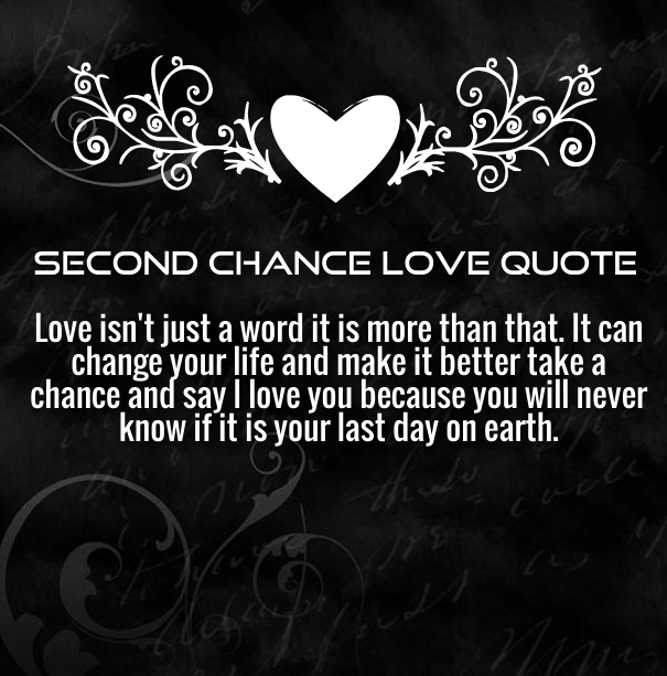 Quotes about Second chance for love (26 quotes)