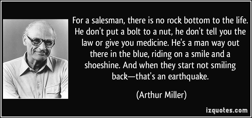 Quotes About Salesman 60 Quotes Mesmerizing Death Of A Salesman Quotes