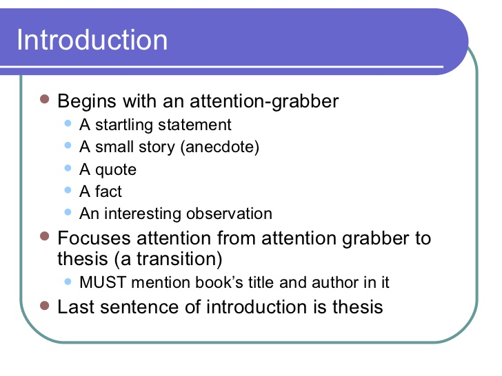 Attention Grabber For Essay