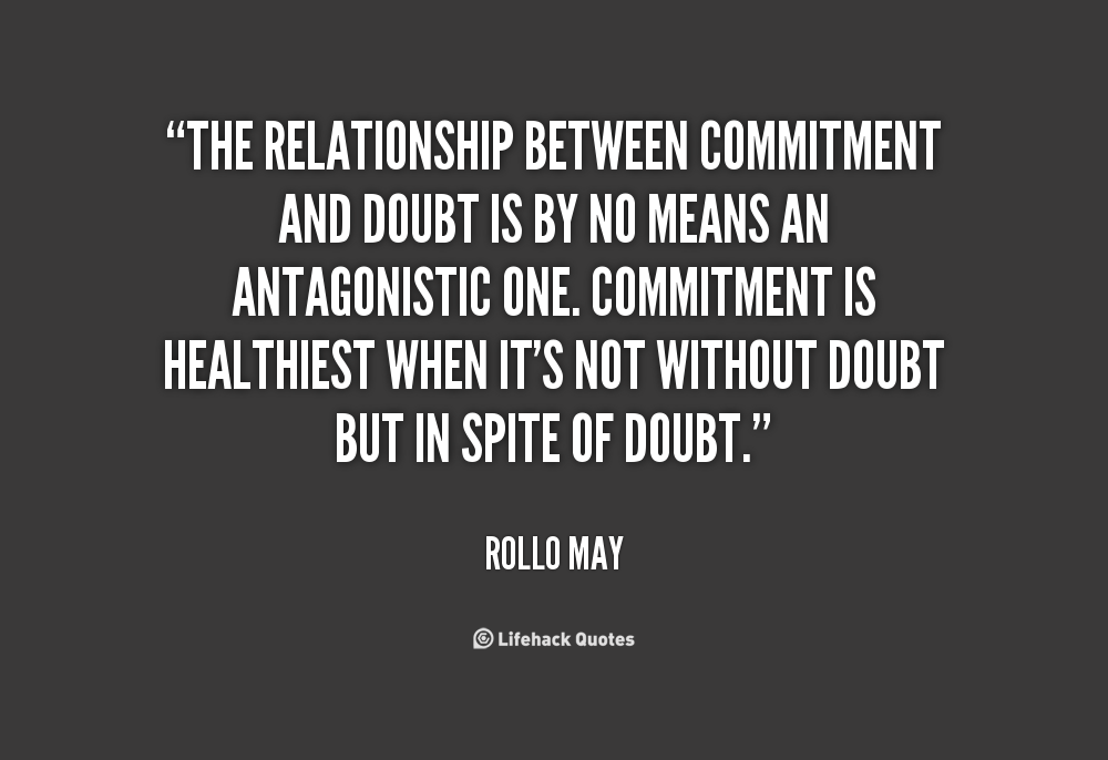 What is commitment in a relationship means