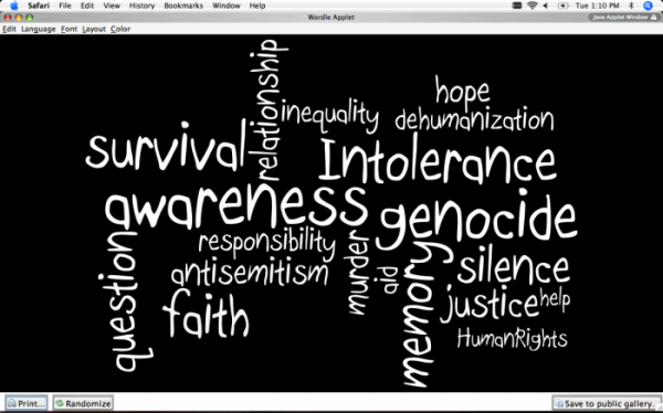 the examples of extreme dehumanization and genocide portrayed in night a book by elie wiesel