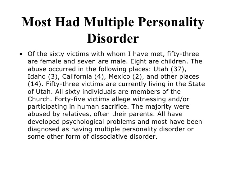 outline for multiple personality disorder Multiple personality disorder presentation 1 multiple personality disorder lauren delamater kelly saccone kimberly spry.