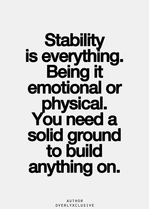 stability in a relationship