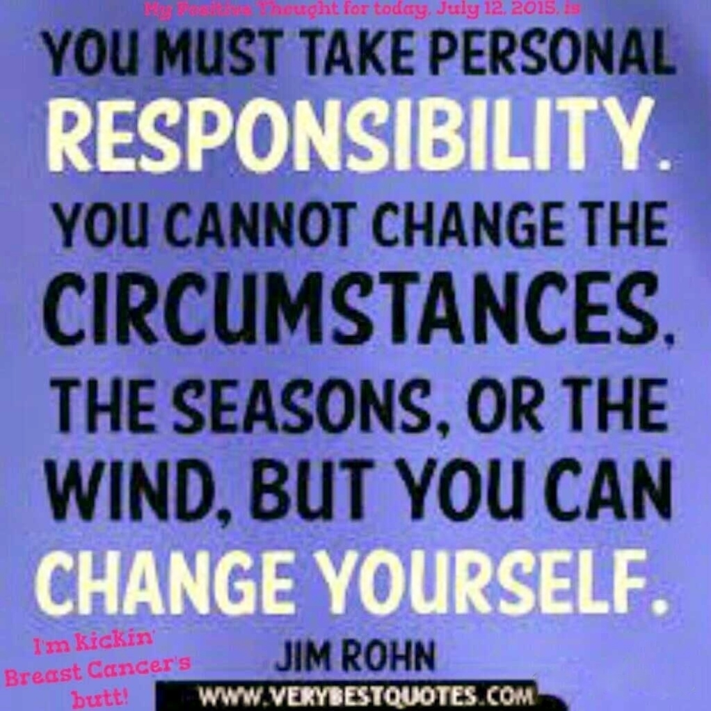 Quotes about taking personal responsibility
