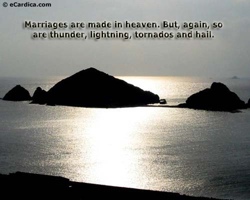 marriage are made in heaven essay You've heard the phrase a marriage made in heaven, but what image does it bring to mindyour marriage, the one you wish you had, or something else.
