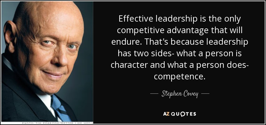 the importance of character for being an effective leader Being humane is one of the most revealing traits of a leader who is ethical and moral ethical leaders place importance in being kind, and act in a manner that is always beneficial to the team 5.