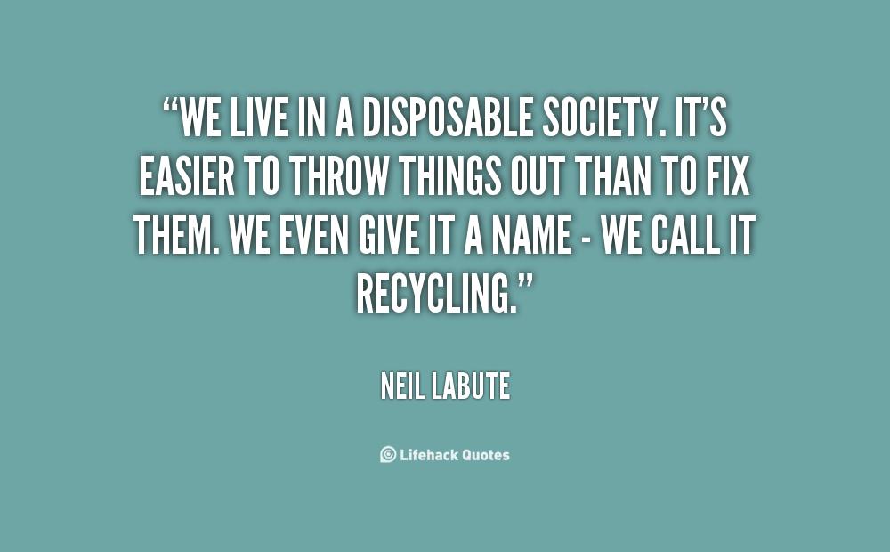 disposable society