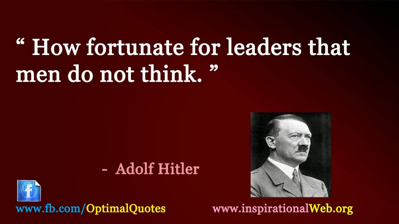 leadership qualities of hitler essay