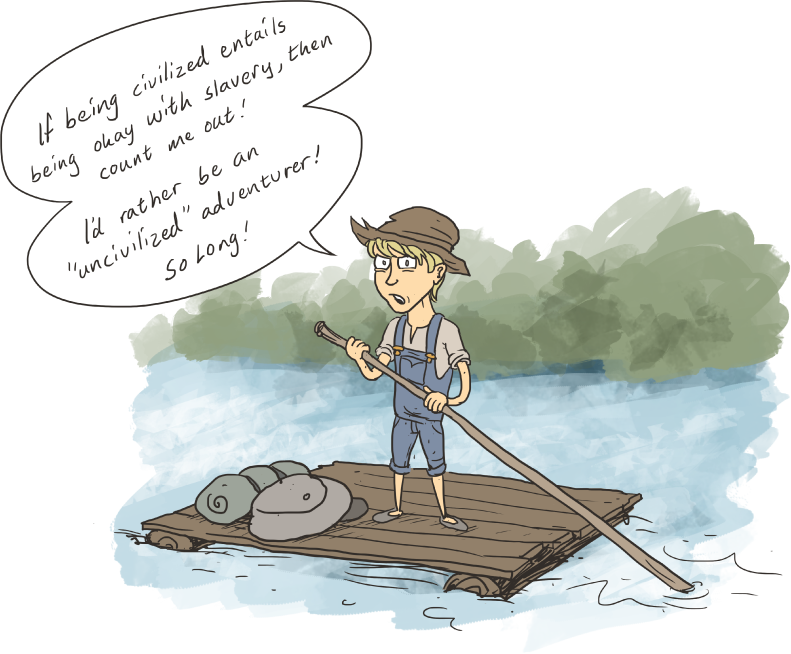 an analysis the concluding chapters of the adventures of huckleberry finn Read expert analysis on the adventures of huckleberry finn including allusion, character analysis, facts, foreshadowing, and historical context at owl eyes.