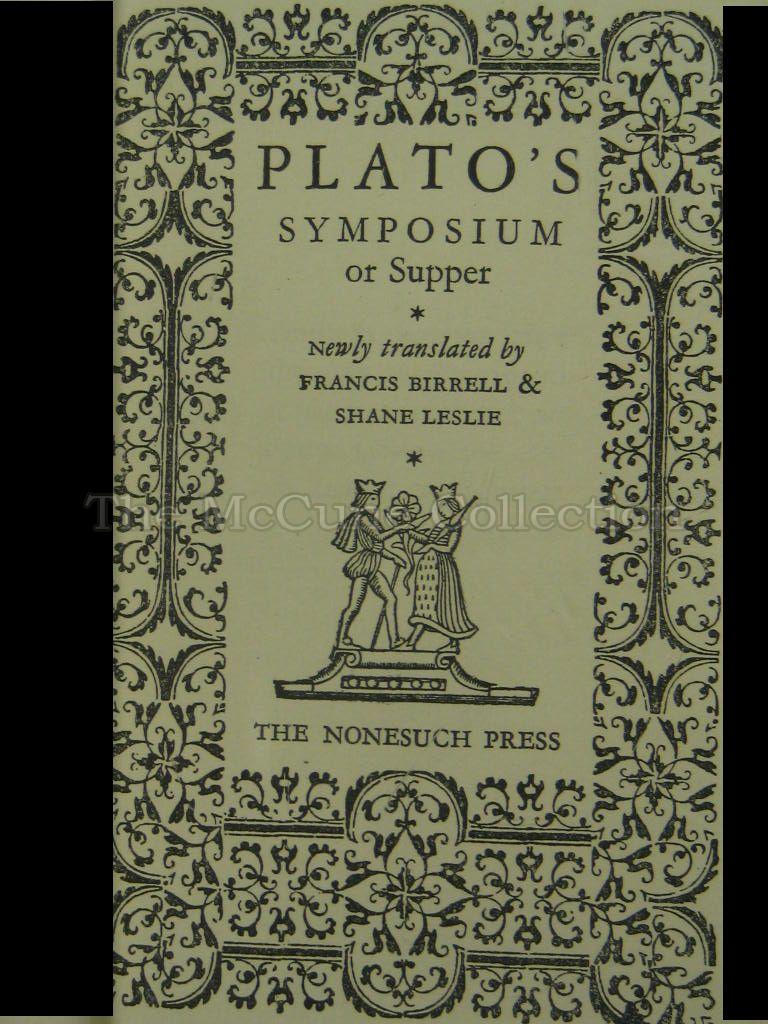 an analysis of platos text the symposium It's amazing to think text created more than 2,000 years ago is still read  plato's symposium essay topics analysis essay topics go to analysis essay.