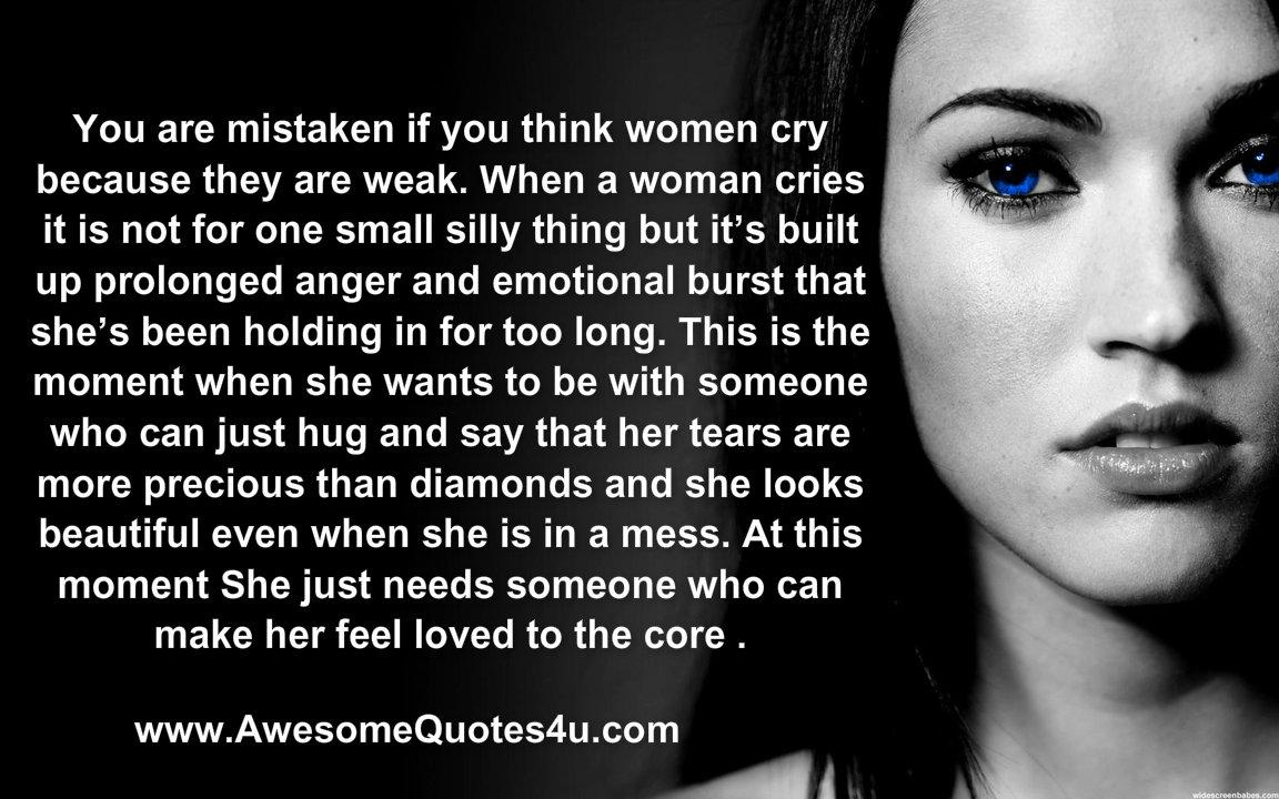 when a woman