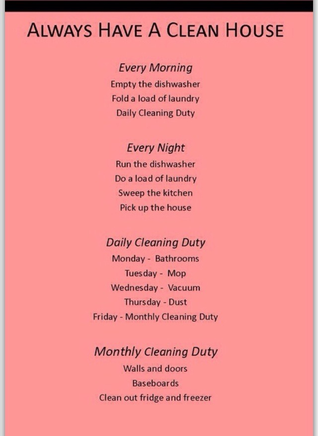 Having A Clean House Quotes
