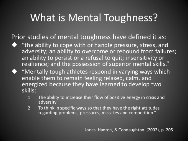 a study on mental toughness in athletes