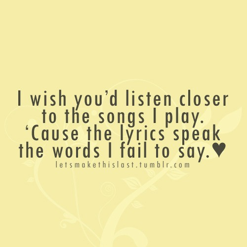 Quotes About Love From Song Lyrics 16 Quotes