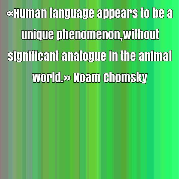 animala and human language