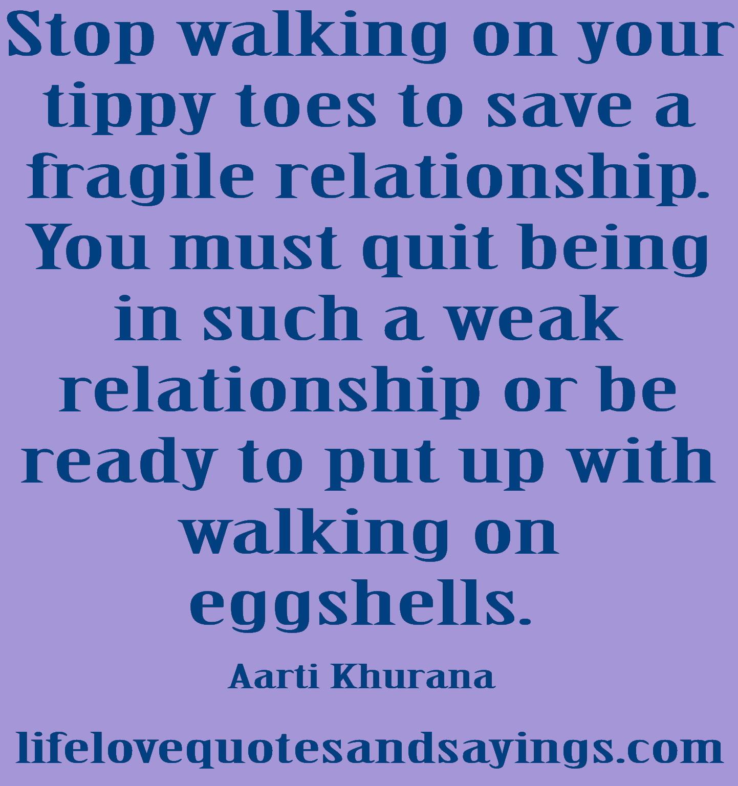 Walking on eggshells relationship