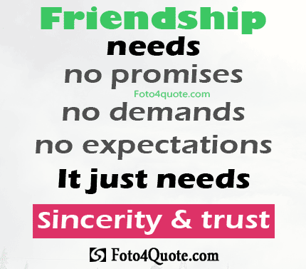Quotes About Trust And Expectations 60 Quotes Custom Trust In Friendship