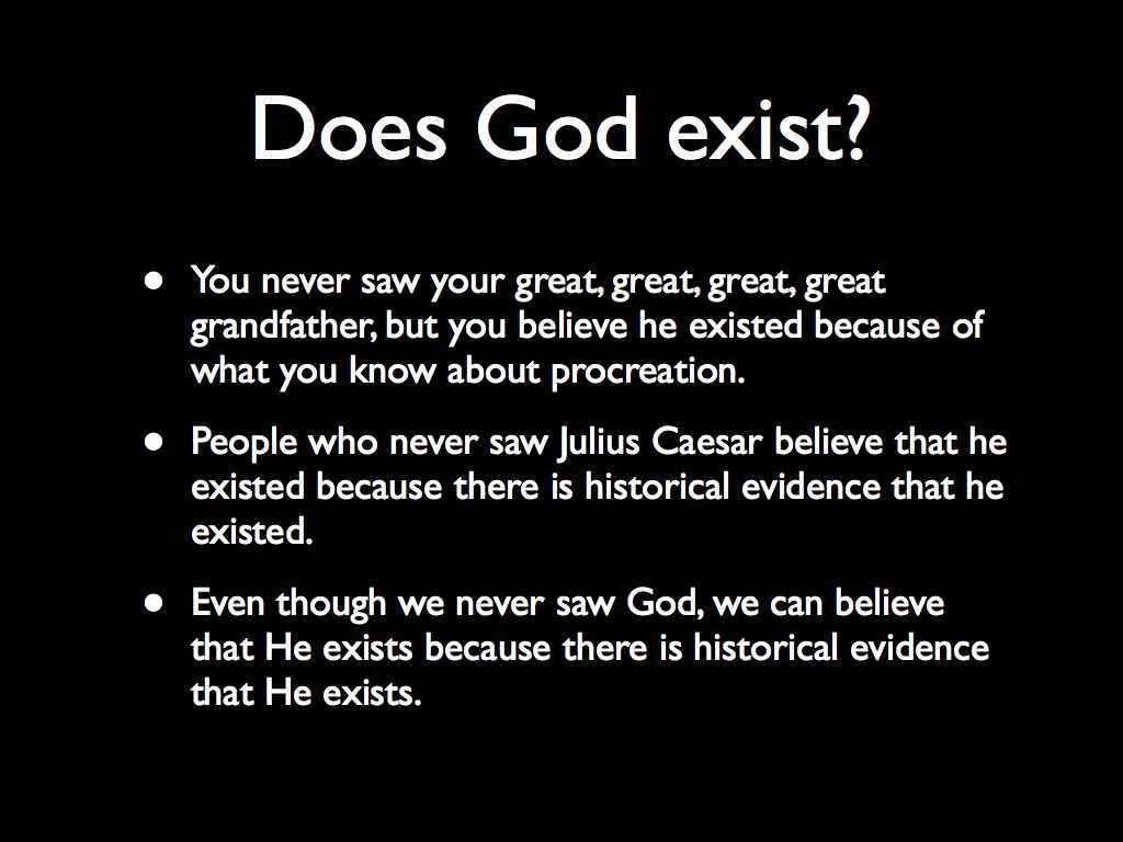 a report on the existence of god