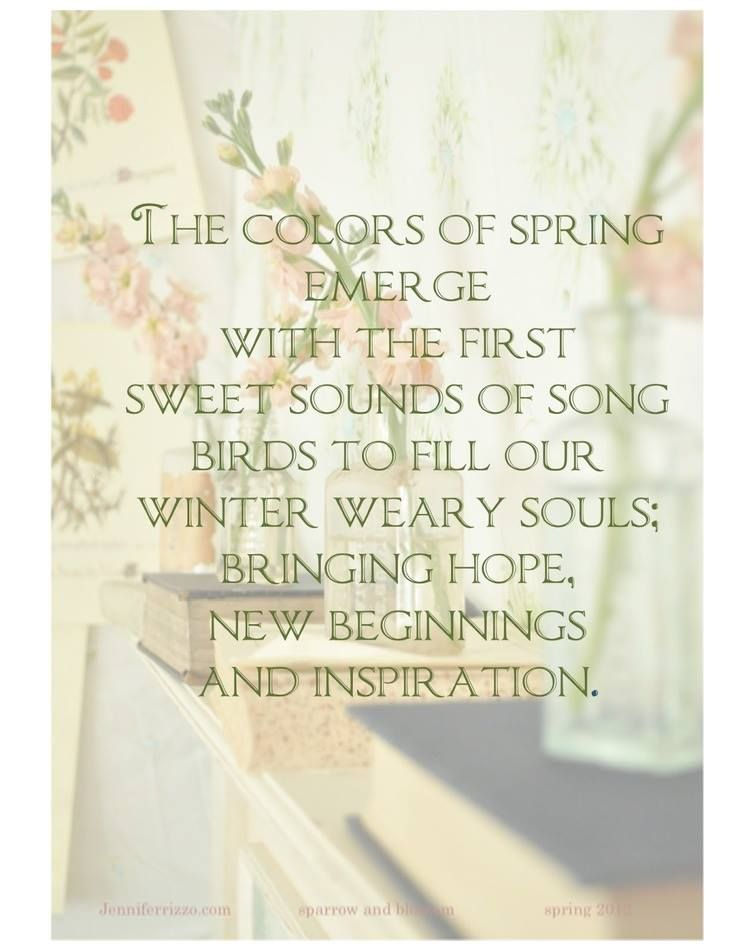 Quotes About New Spring 60 Quotes
