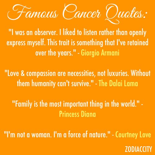 Quotes About Cancer Horoscope 25 Quotes