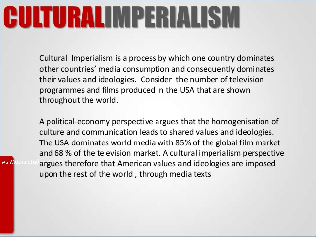 Buy cultural imperialism thesis